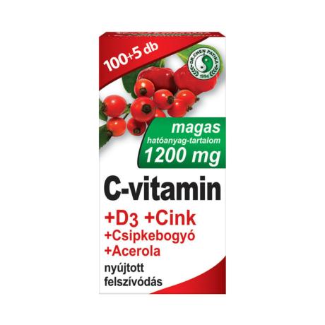 Dr. Chen C-vitamin 1200mg +D3 +Cink +Csipkebogyó +Acerola filmtabletta